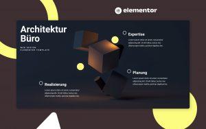 elementor template, architektur büro, webseite, architekt, architekten, web design, elementor landingpage template, library kit, elementor web design