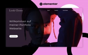 elementor, elementor pro, template, design, landingpage, free template, kostenlos, artist, model, creator, künstler, fashion, beauty, social media, portfolio, modern